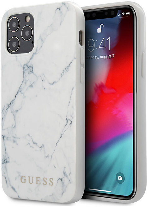 Чехол CG Mobile Guess PC/TPU Marble Design Hard для iPhone 12/12 Pro