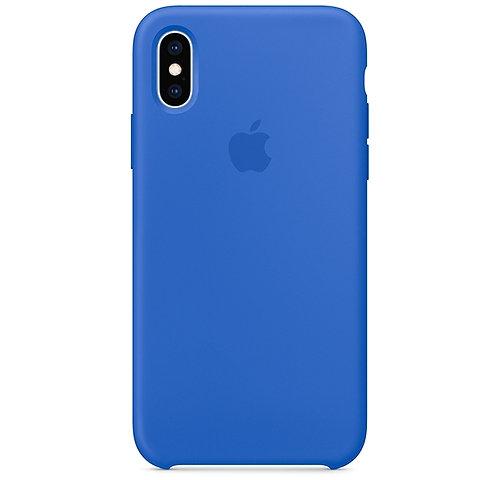 Синий чехол  для iPhone X/XS