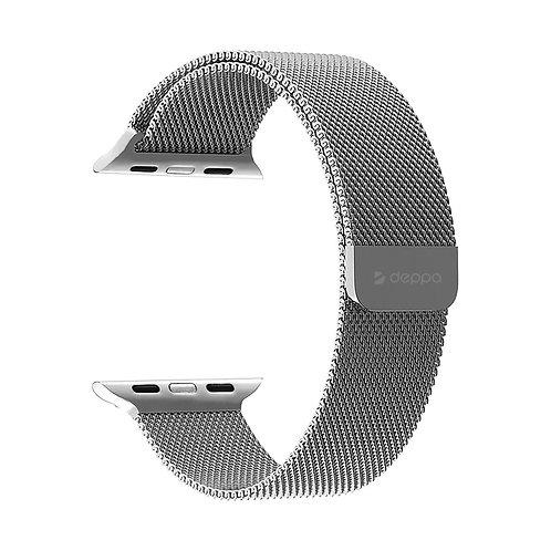 Ремешок Band Mesh для Apple Watch 42/44 mm, нержавеющая сталь Серебристый