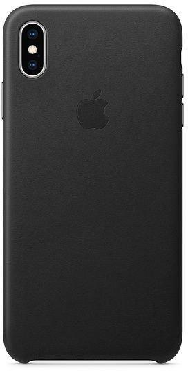 Кожаный чехол для iPhone XS Max, чёрный цвет