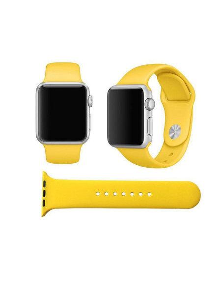 Ремешок силиконовый для Apple Watch 44/42мм желтый