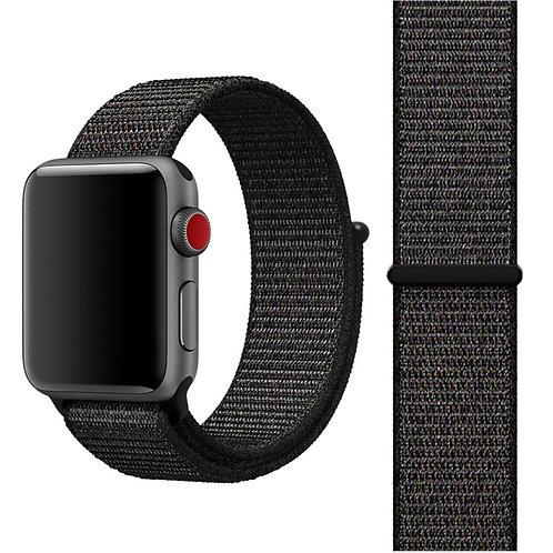 Ремешок из плетёного нейлона для Apple Watch 38/40mm черного цвета