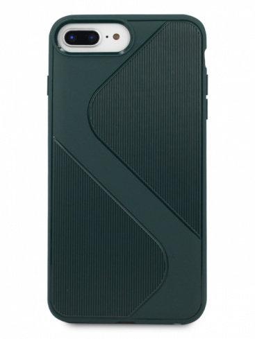 Чехол для iPhone 6+/7+/8+ Heavy силикон (Зеленый)