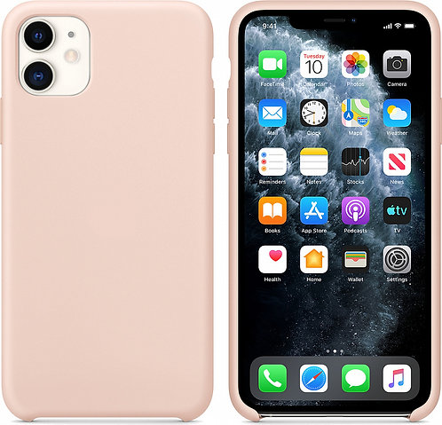 Накладка iPhone 11 Silicone Case розовый песок