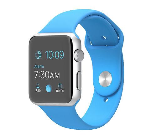 Ремешок силиконовый для Apple Watch 44/42мм голубой