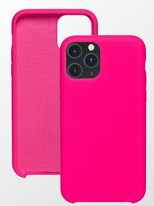Накладка iPhone 11 Pro Silicone Case ярко-розовый