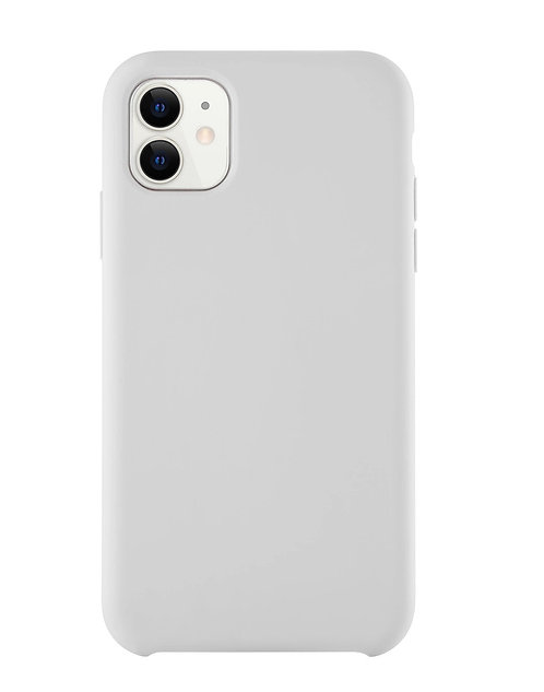 Белый силиконовый чехол для Apple iPhone 11