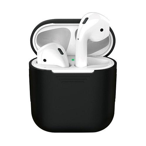 Силиконовый чехол Ultra Slim для AirPods 1/2, черный, Deppa