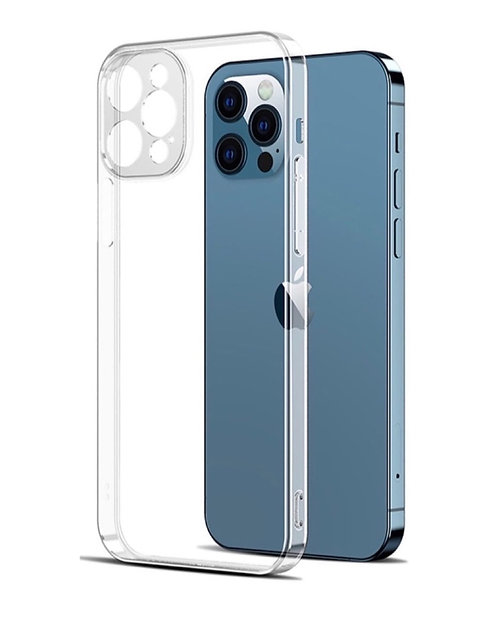 Ультратонкий прозрачный силиконовый чехол с защитой камеры iPhone 12 Pro max