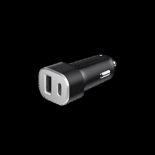 Автомобильное зарядное устройство USB Type-C + USB A QC 3.0, Power Delivery, 18В