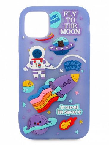 Чехол для iPhone 11 Space резина (Сиреневый)