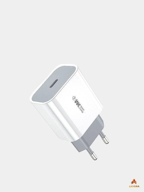 Зарядный блок Type C 20W PD быстрая зарядка WP-U55