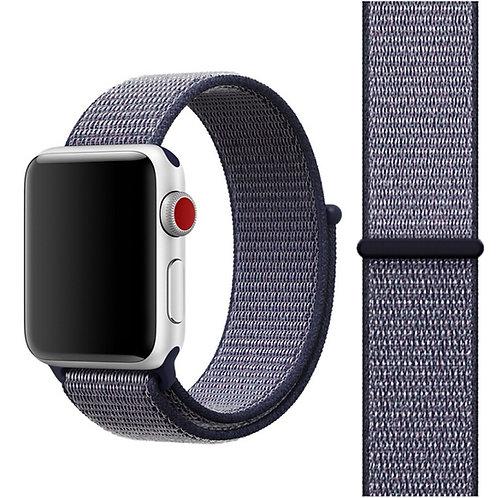 Ремешок из плетёного нейлона для Apple Watch 38/40mm темно-синего цвета