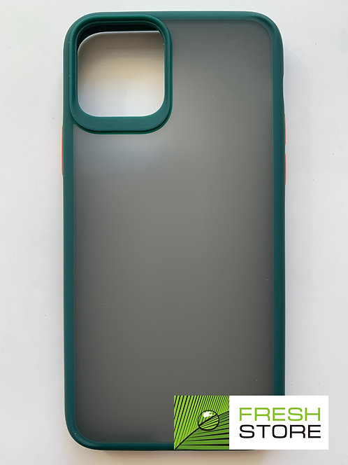 Защитный чехол для iPhone 11 pro с полной защитой темно-зеленый