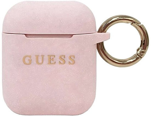 Чехол с карабином CG Mobile Guess Silicone case with ring для AirPods 1/2