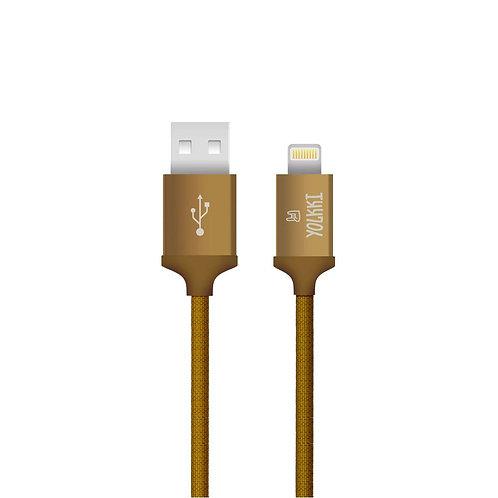 Кабель USB - Apple 8pin/lightning YOLKKI Pro 05 коричневый (1м)