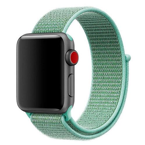 Ремешок из плетёного нейлона для Apple Watch 42/44mm мятного цвета