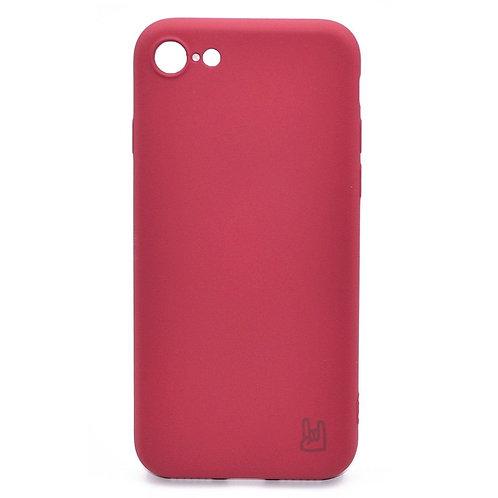 Чехол - накладка для iPhone 6/6S YOLKKI Rivoli силикон темно-розовый