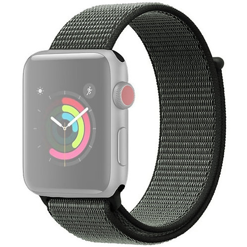 Ремешок нейлоновый для Apple Watch 38-40мм Серо-зеленый