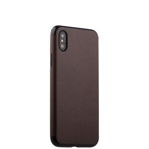 Силиконовая чехол-накладка J-case Jack Series для iPhone X/XS - Коричневый