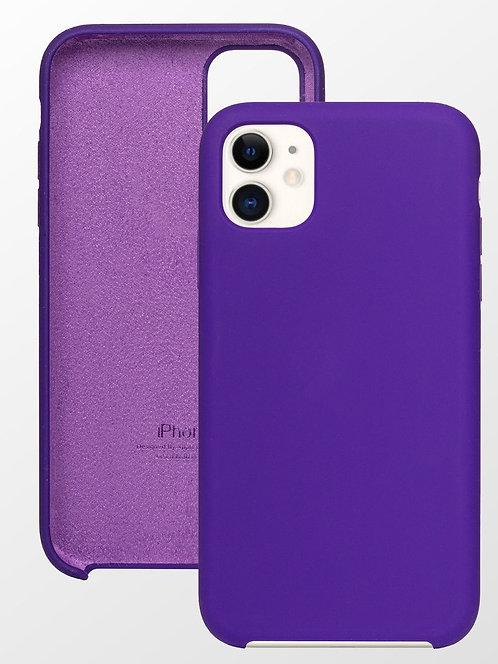 Накладка iPhone 11 Silicone Case фиолетовый