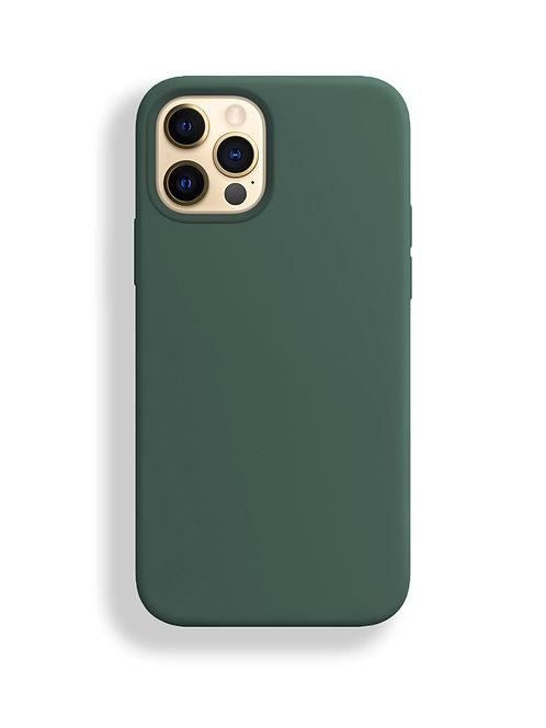 """""""Темно- зеленый"""" чехол силиконовый на айфон на Apple iPhone 12/12 PRO MAX"""