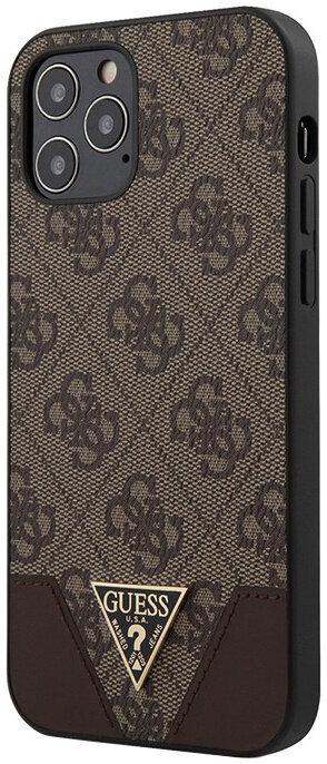 Чехол CG Mobile Guess PU 4G Triangle metal logo Hard для iPhone 12 Pro