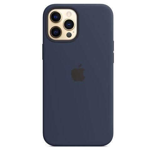 Силиконовый чехол MagSafe для iPhone 12 Pro Max, цвет «тёмный ультрамарин»