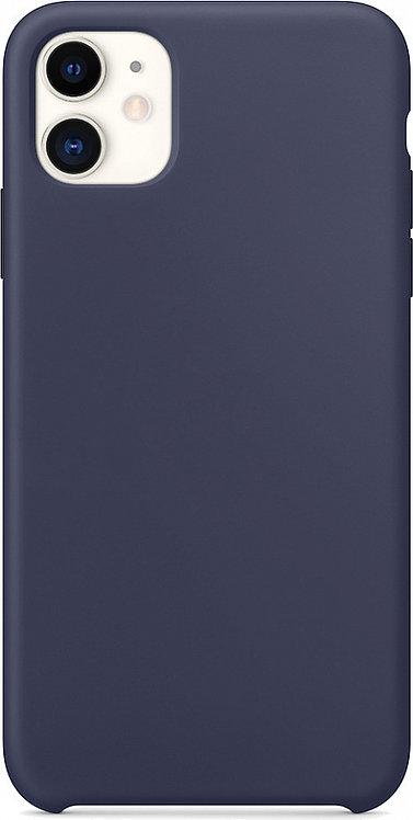 Накладка iPhone 11 Silicone Case темно-синий