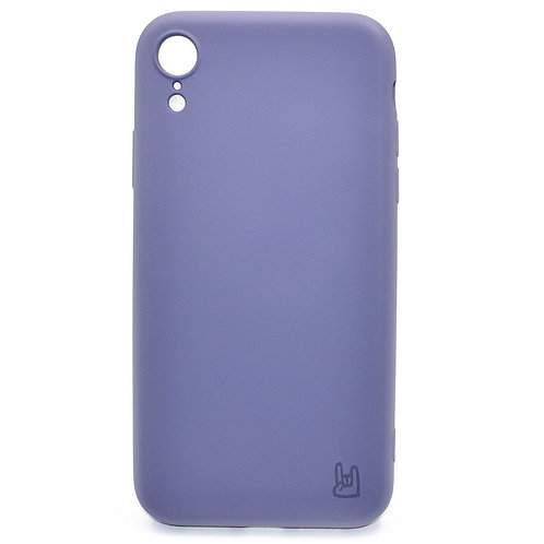 Чехол - накладка для iPhone Xr YOLKKI Rivoli силикон темно-сиреневый