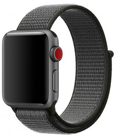 Ремешок из плетёного нейлона для Apple Watch 38/40mm темно-серый цвет