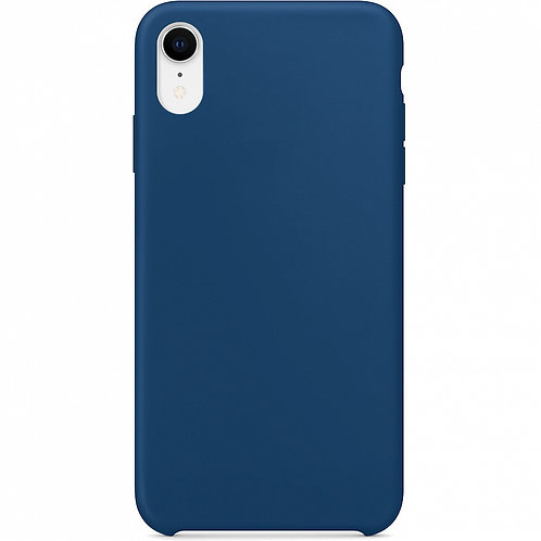 Накладка iPhone XR Silicone Case темно-синий