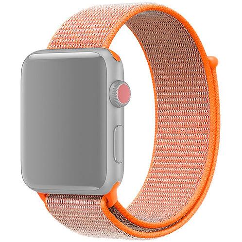 Ремешок из плетёного нейлона для Apple Watch 38/40mm оранжевый цвет