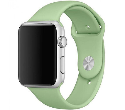 Ремешок силиконовый для Apple Watch 38/40мм светло-зеленый