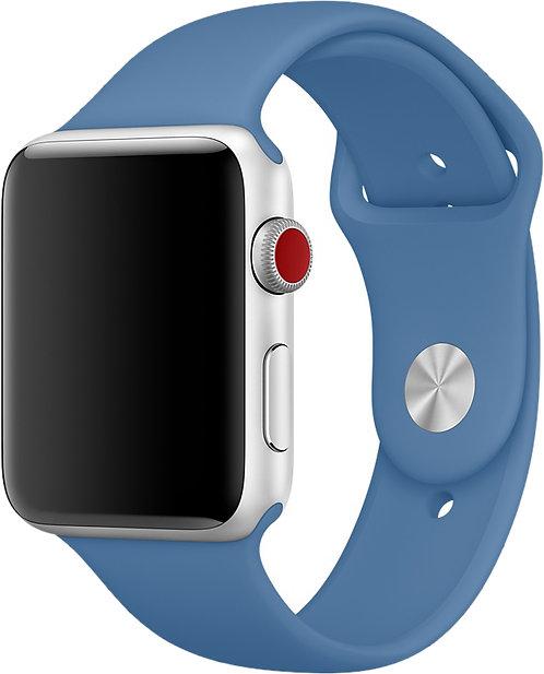 Ремешок силиконовый для Apple Watch 38/40мм светло-синий
