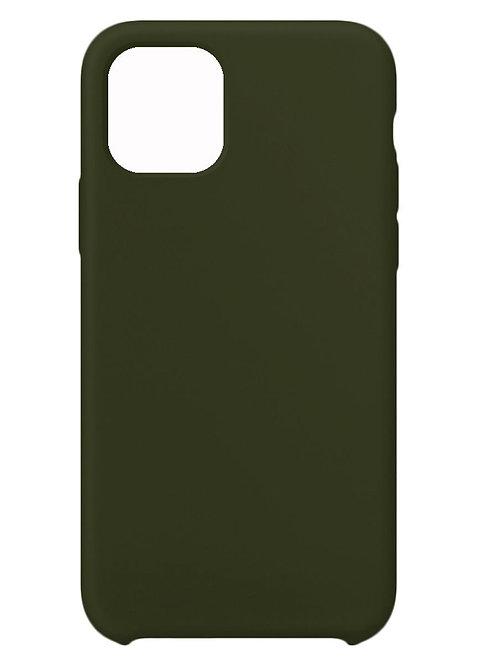 Накладка iPhone 11 Silicone Case темно-зеленый