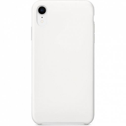 Накладка iPhone XR Silicone Case белый