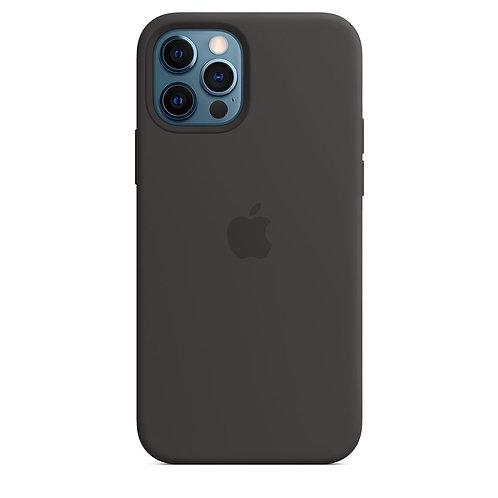 Силиконовый чехол MagSafe для iPhone 12 Pro, чёрный цвет