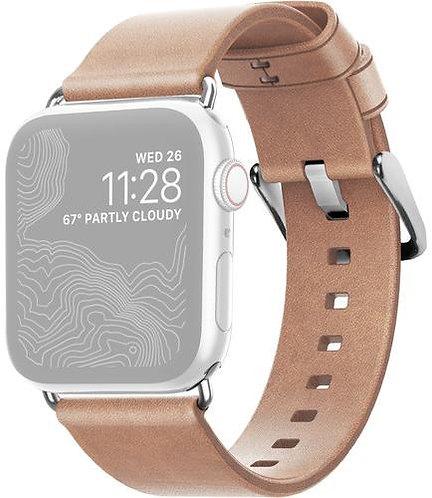 Ремешок Nomad Modern Strap для Apple Watch Series 38/40 (Nude/Silver)