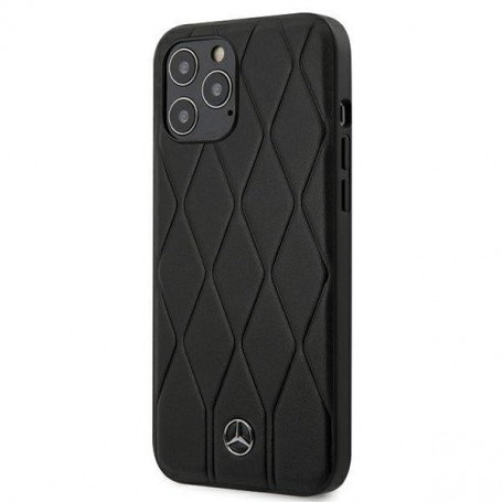 Чехол CG Mobile Mercedes Genuine leather Wave Quilted Hard для iPhone 12/12 Pro