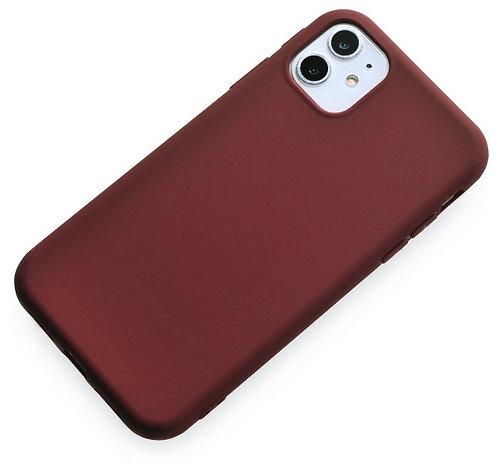Накладка iPhone 11 Silicone Case коричневый