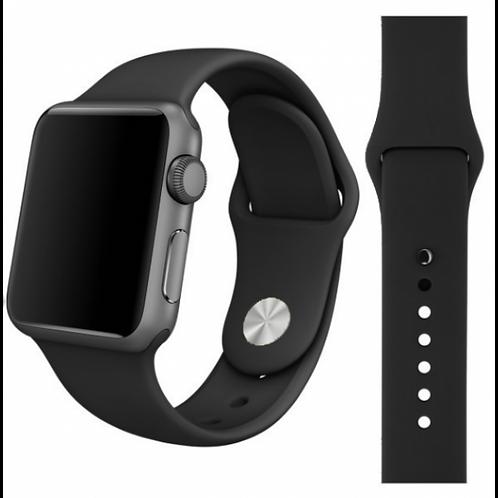 Ремешок силиконовый для Apple Watch 42/44мм черный