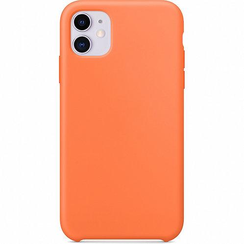 Накладка iPhone 11 Silicone Case оранжевый