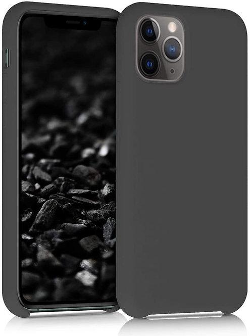 Накладка iPhone 11 Pro Silicone Case темно-серый