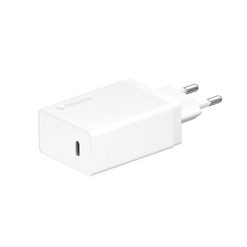 СЗУ USB Type-C, Power Delivery, 30 Вт, белый, Deppa