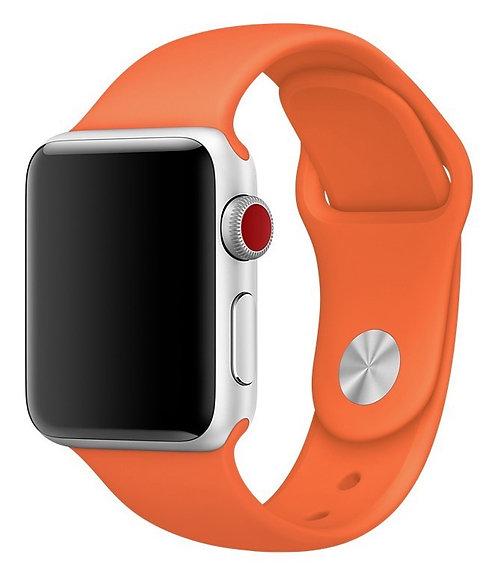 Ремешок силиконовый для Apple Watch 44/42мм оранжевый