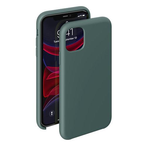 Чехол Liquid Silicone Case для Apple iPhone 11 темно-зеленый