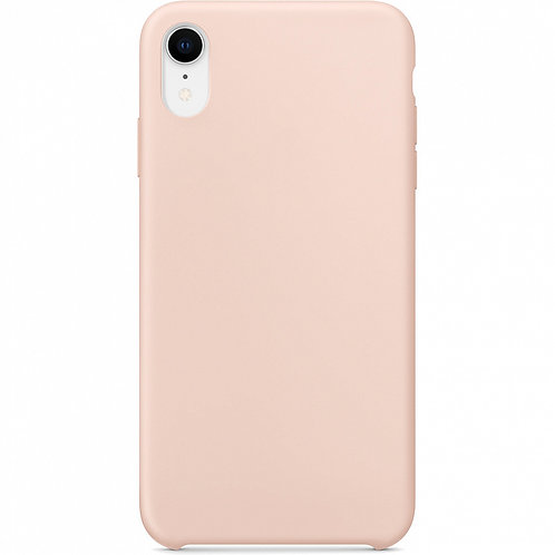 Накладка iPhone XR Silicone Case розовый