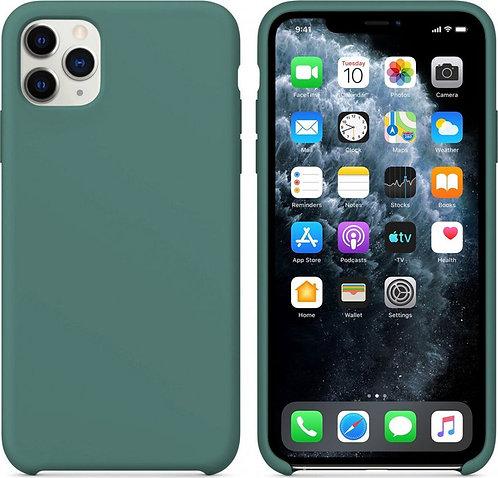 Накладка iPhone 11 Pro Silicone Case темно-зеленый