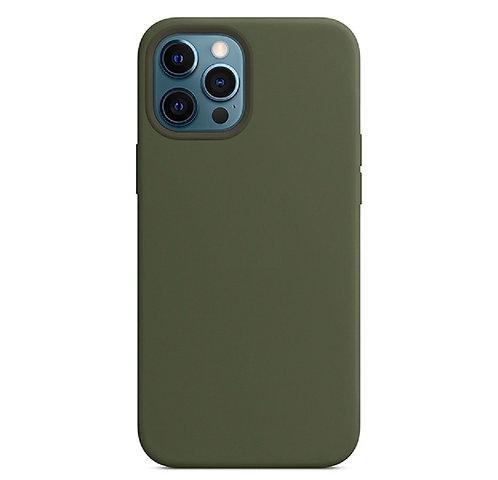 """""""Болотный"""" чехол силиконовый на айфон на Apple iPhone 12/12 PRO MAX"""